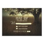 night lanterns romantic wedding RSVP card