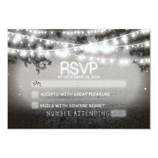 night lanterns wedding rsvp 3.5x5 paper invitation card