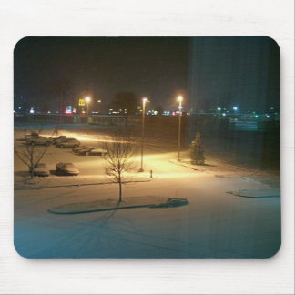 night-life after the snow, mousepad