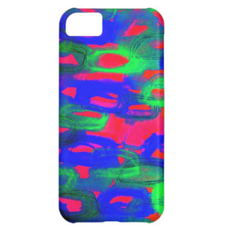 NIGHT LIFE Bold Neon Abstract Watercolor Painting iPhone 5C Case