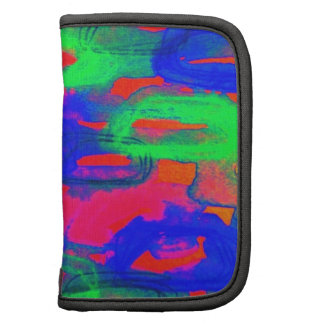 NIGHT LIFE Bold Neon Abstract Watercolor Painting Folio Planner