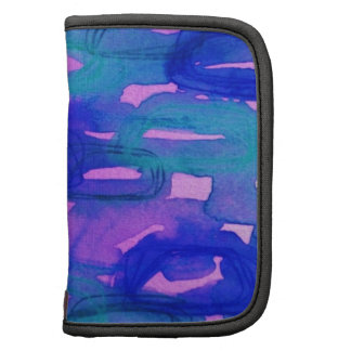 NIGHT LIFE Bold Neon Abstract Watercolor Painting Folio Planners