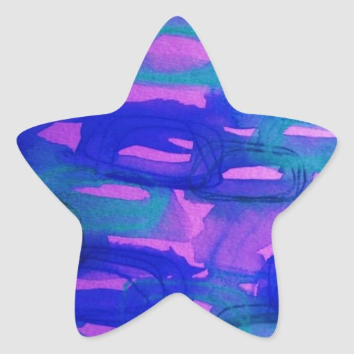 NIGHT LIFE Bold Neon Abstract Watercolor Painting Sticker