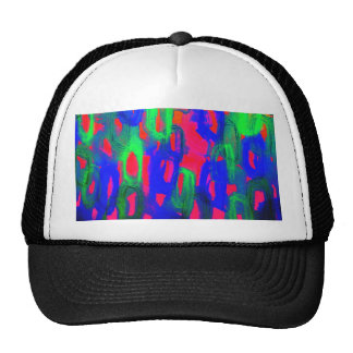 NIGHT LIFE Bold Neon Abstract Watercolor Painting Trucker Hat
