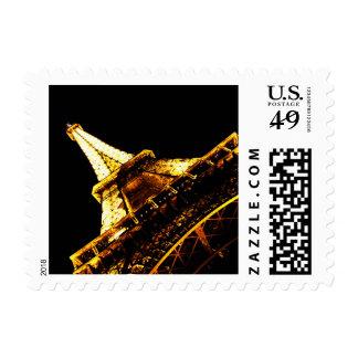 Night Life in Paris Postage Stamp