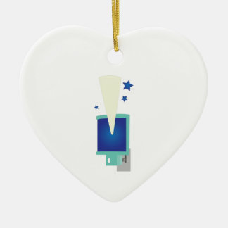 Night Light Double-Sided Heart Ceramic Christmas Ornament