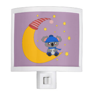 Night light with cute koala picture.