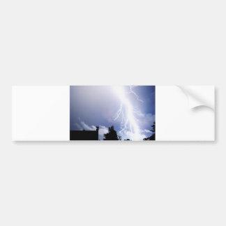 Night Lightning Car Bumper Sticker