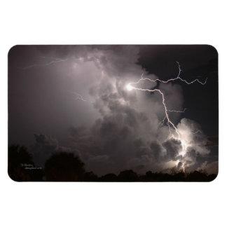 Night lightning clouds Flexi Magnet