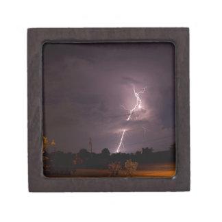Night lightning Storm clouds Gift Box