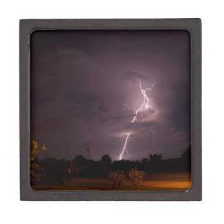 Night lightning Storm clouds Jewelry Box