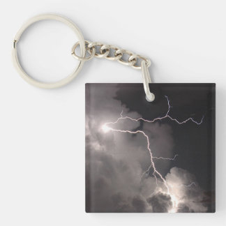 Night lightning Storm clouds Keychain
