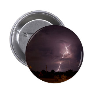 Night lightning Storm clouds Pinback Button