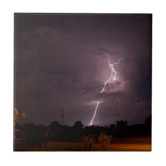 Night lightning Storm clouds Tile