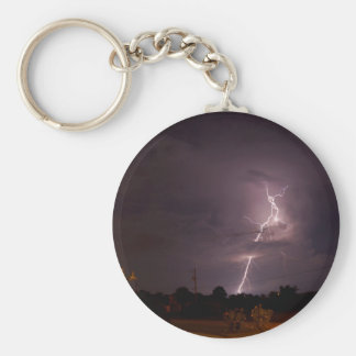 Night lightning Storm Keychain