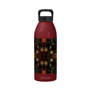 Night Lights 4 Colorful Funky Abstract Reusable Water Bottle