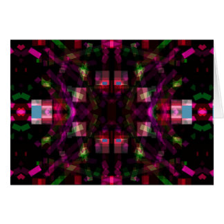 Night Lights 6 Funky Modern Abstract Card