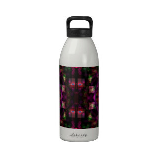Night Lights 6 Funky Modern Abstract Reusable Water Bottle