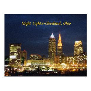 Cleveland postcards zazzle night lights cleveland ohio postcard colourmoves