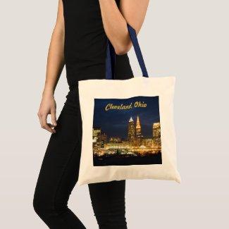 Night Lights Cleveland Ohio Tote Bag