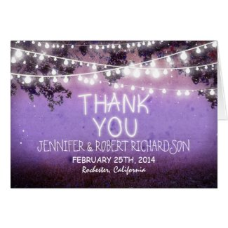 night lights country purple thank you cards