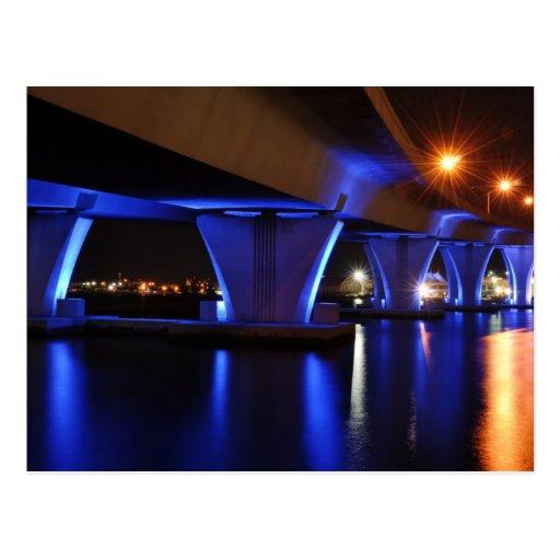 Night lights in Miami - Postcard