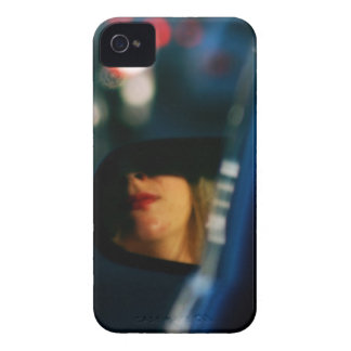 Night Lights Lady Red Lipstick Car Mirror iPhone 4 Cover