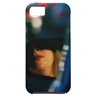 Night Lights Lady Red Lipstick Car Mirror iPhone SE/5/5s Case