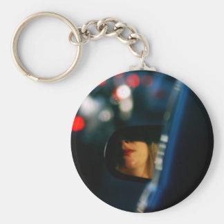 Night Lights Lady Red Lipstick Car Mirror Keychain