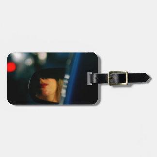 Night Lights Lady Red Lipstick Car Mirror Luggage Tag