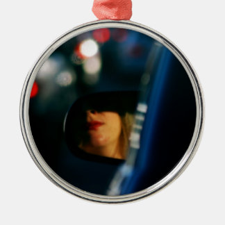 Night Lights Lady Red Lipstick Car Mirror Metal Ornament