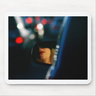 Night Lights Lady Red Lipstick Car Mirror Mouse Pad