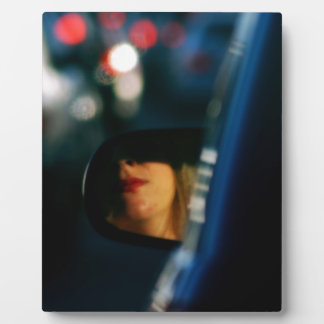 Night Lights Lady Red Lipstick Car Mirror Plaque
