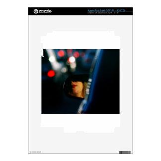 Night Lights Lady Red Lipstick Car Mirror Skin For iPad 3