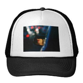 Night Lights Lady Red Lipstick Car Mirror Trucker Hat