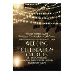 night lights nature inspired wedding invitation