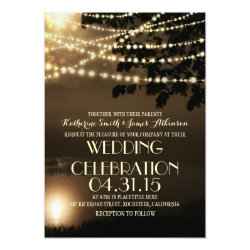 night lights nature inspired wedding invitation 5