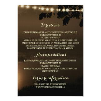 Night Lights Nature Wedding Details Card
