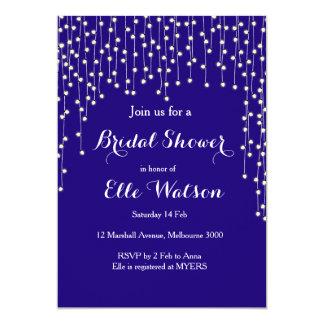 Night Lights Navy Bridal Shower Invitation