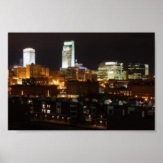 Night Lights of Omaha Poster