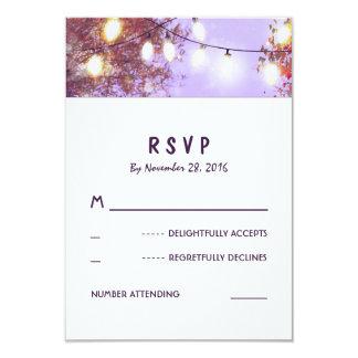 Night Lights Outdoor Wedding RSVP Cards