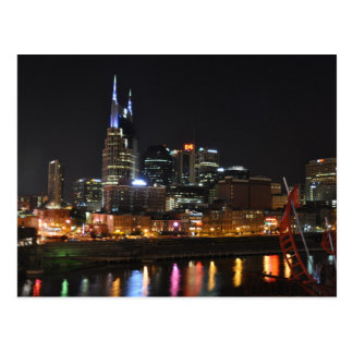 Night Lights Reflections Nashville,Tn - Postcard