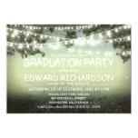 night lights rustic Graduation Party invitations