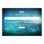"Night Lights Rustic Wedding RSVP Cards 3.5"" X 5"" Invitation Card"