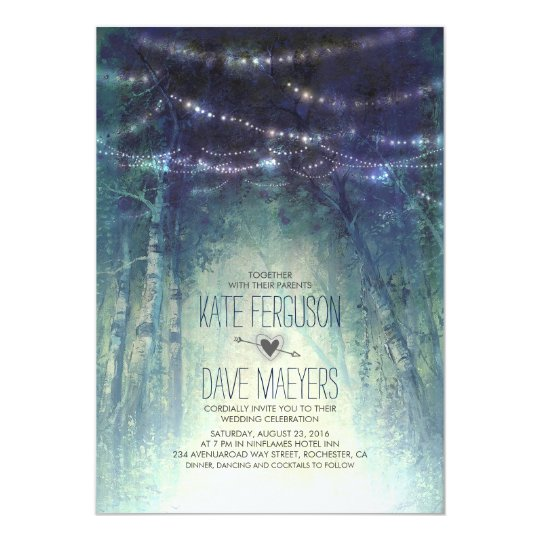 Enchanted Forest Wedding Invitation - Rustic Wedding Invitations