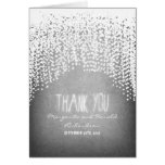 night lights string twinkles glitter thank you greeting card