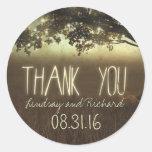 night lights thank you wedding stickers