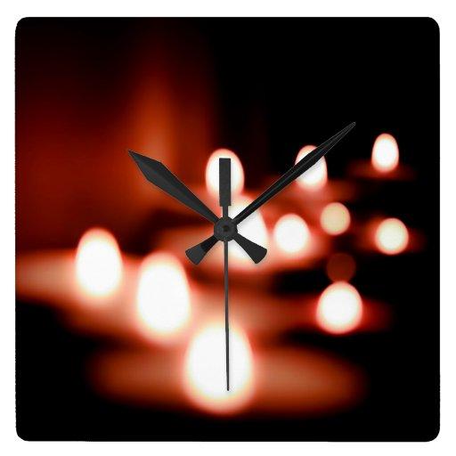 night lights wall clock zazzle. Black Bedroom Furniture Sets. Home Design Ideas