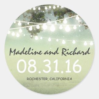 night lights wedding stickers