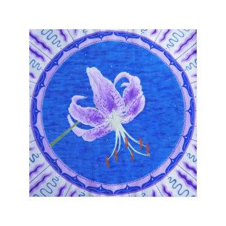 Night lily Mandala Canvas Print
